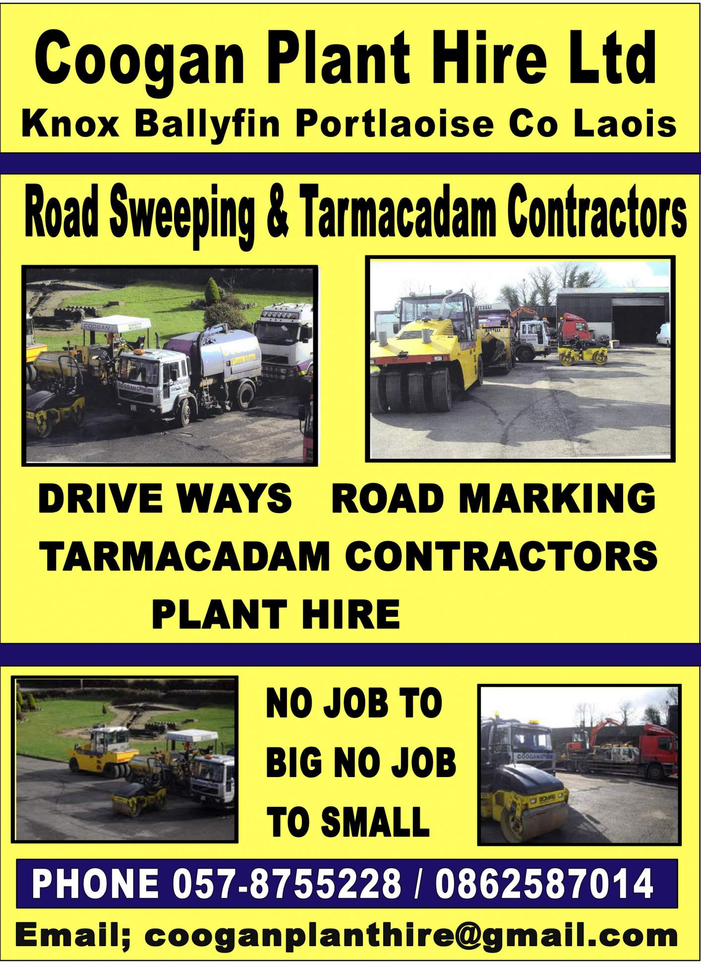 Coogan Plant Hire Ltd Tarmacadam Specialists In