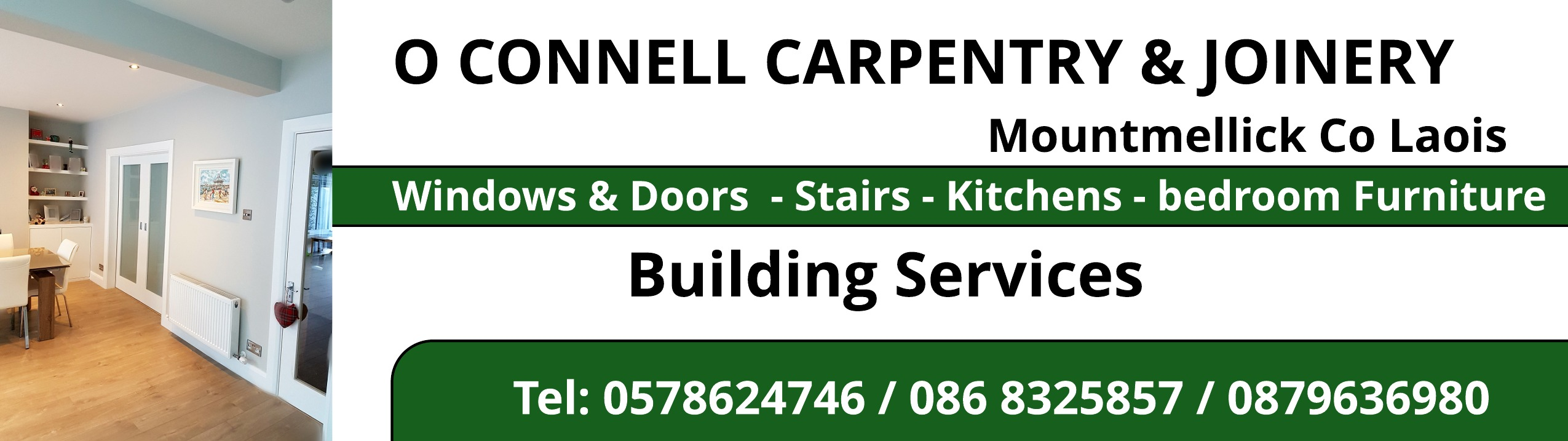 O Connell Carpentry And Joinery Joinery In Mountmellick